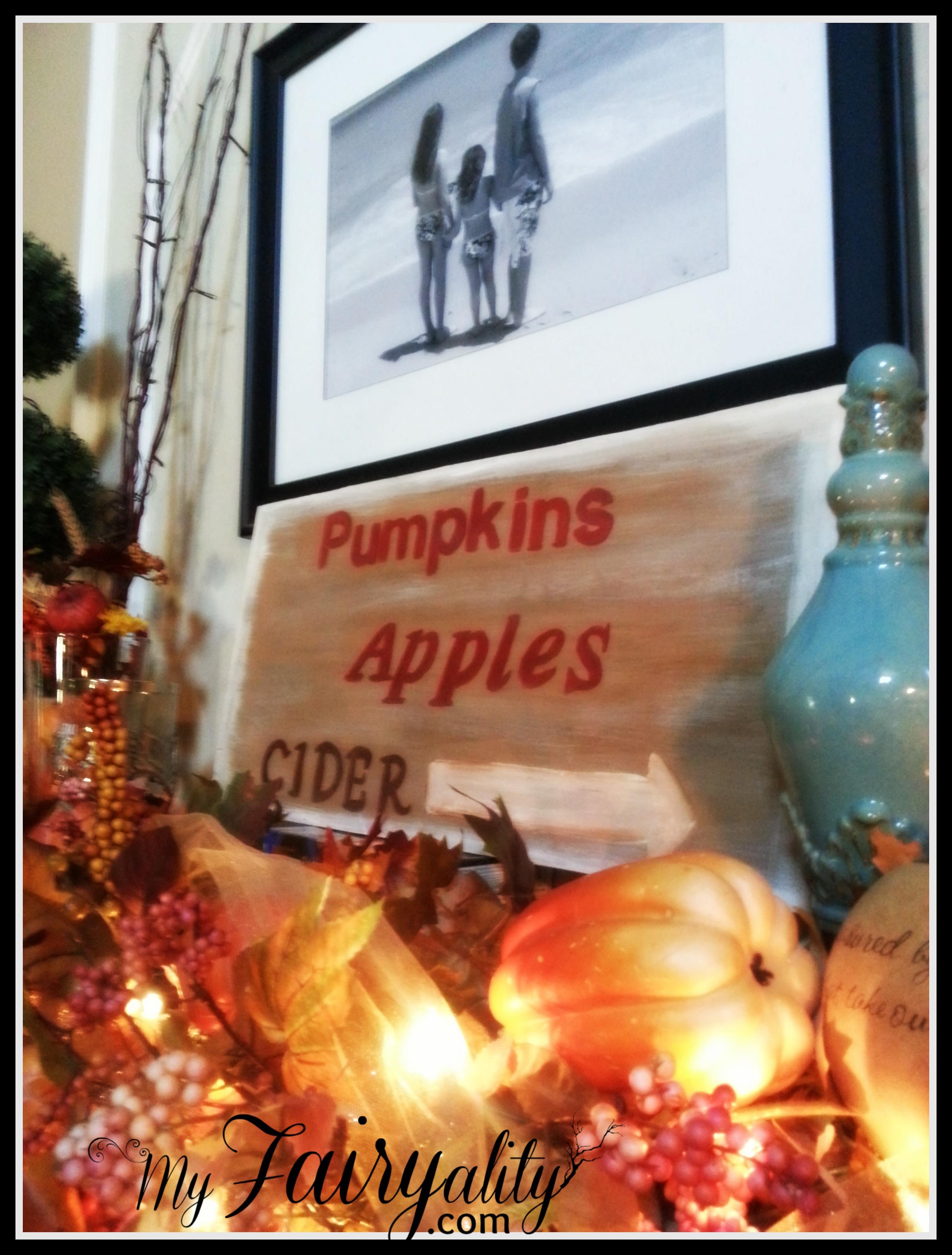 Fall FP sign garland