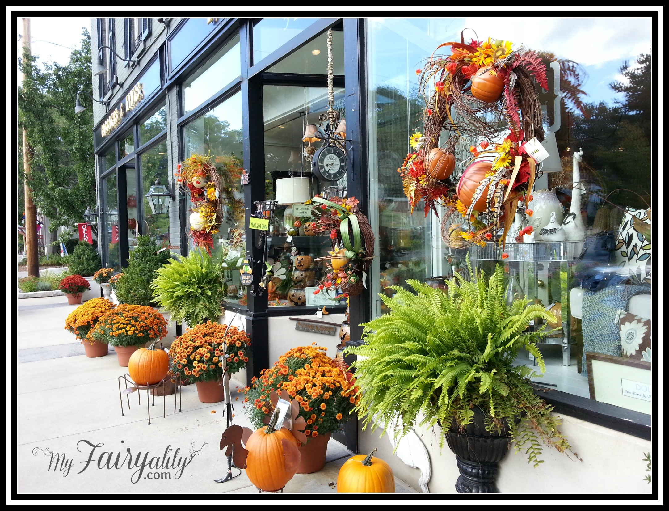 fall store front