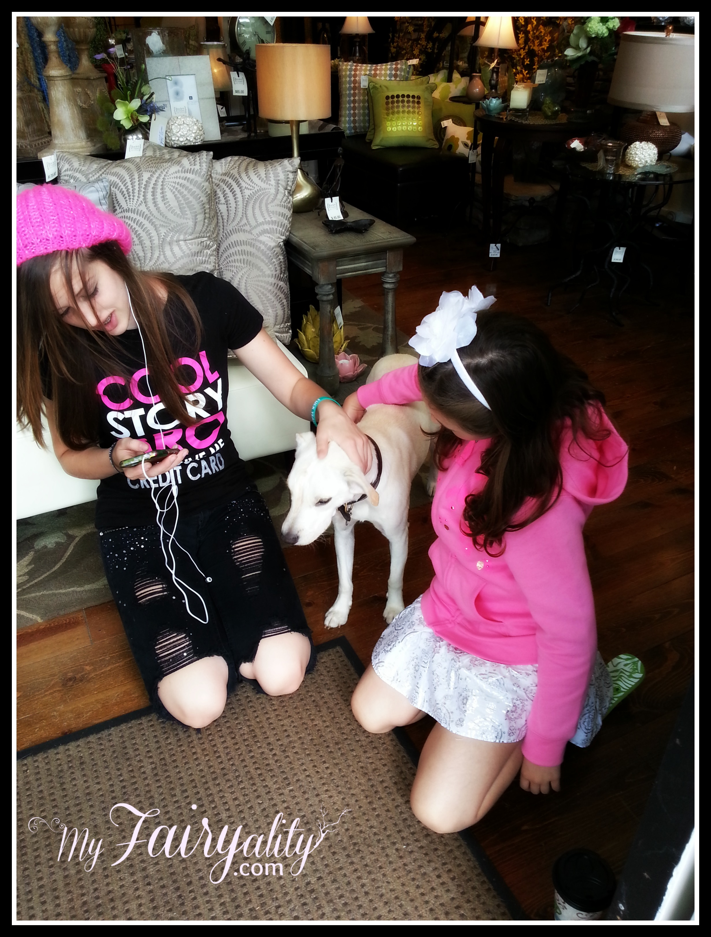 Girls dog Saugatuck