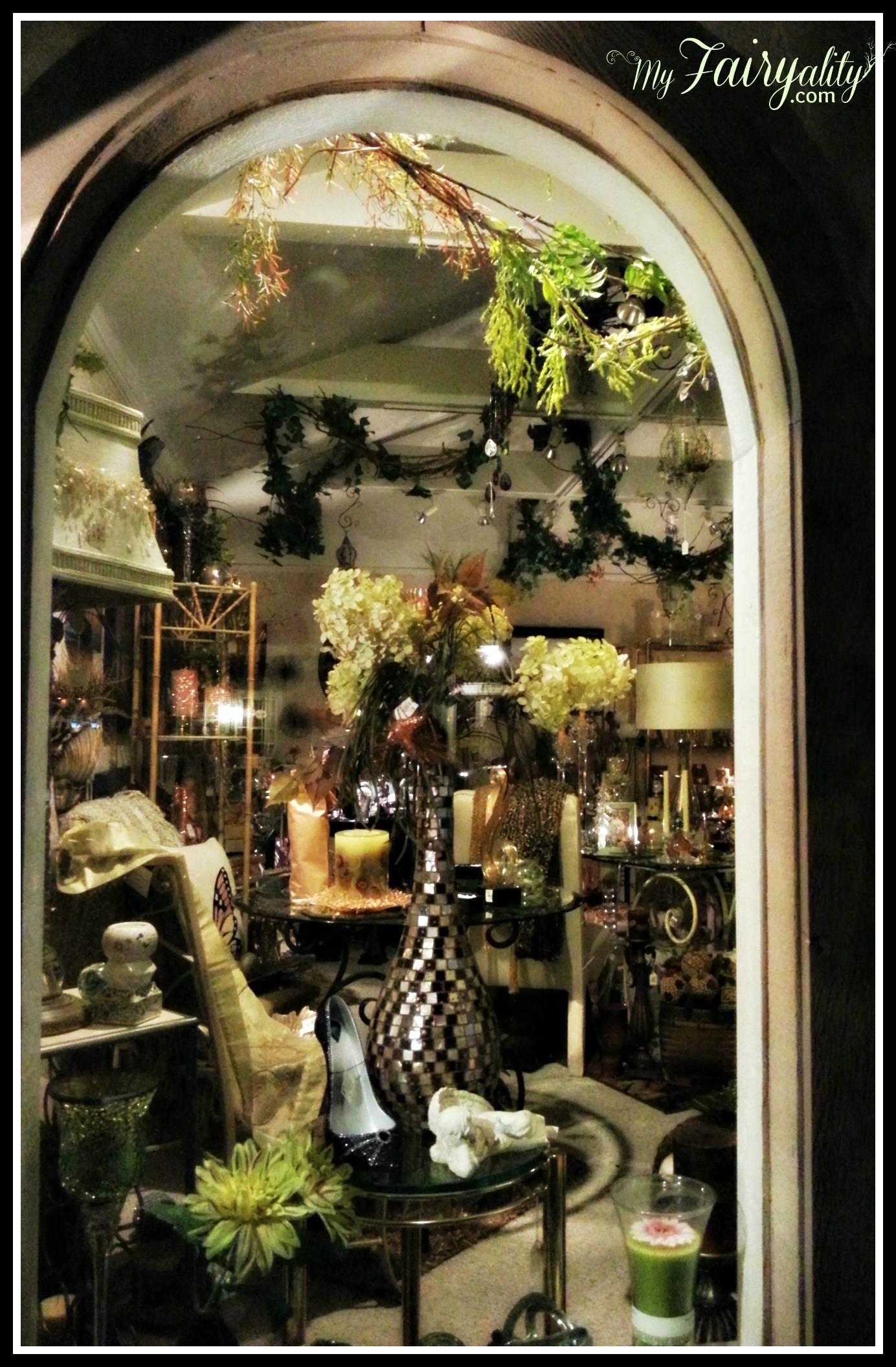green store window